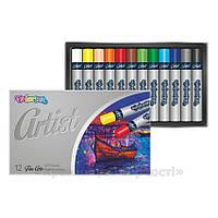 Пастель масляная Colorino Artist, 12 цветов, круглая (65702PTR), фото 1