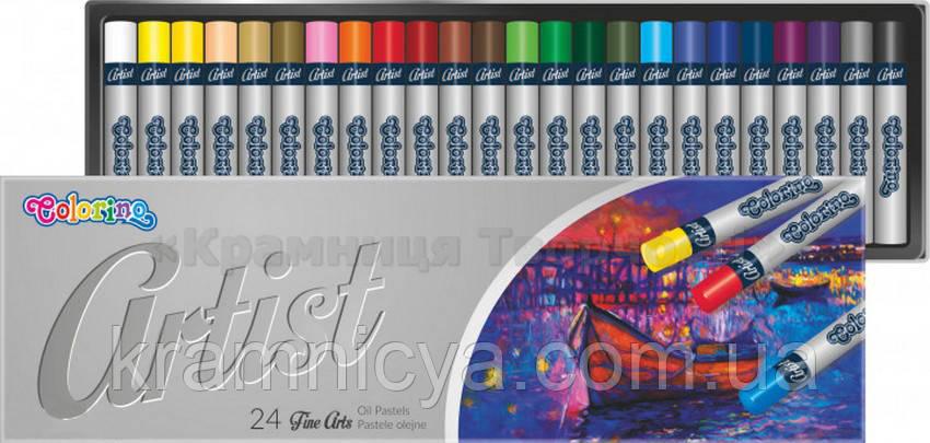 Пастель масляная Artist Colorino, 24 цветов (65719PTR)
