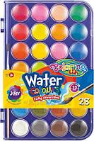 Краски акварельные с кисточкой 28 цветов Colorino (67317PTR), фото 1