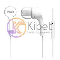Наушники KOSS KEB9I White, Mini jack (3.5 мм), вакуумные, кабель 1.2 м