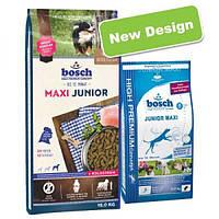 Bosch Maxi Junior (Бош Макси Юниор), корм для щенков крупных пород собак, NEW! 15кг