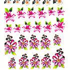 Водные Наклейки для Ногтей Разноцветные, Декор ногтей, Маникюр, Angevi S 032 Цветы, Бабочки, фото 4