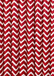 Трубочка для напитков картонная красная Шеврон