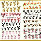 Водные Наклейки для Ногтей Разноцветные, Большая Тройная Пластина, Дизайн Ногтей, Angevi S 010-011-012, фото 4