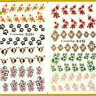 Водные Наклейки для Ногтей Разноцветные, Большая Тройная Пластина, Дизайн Ногтей, Angevi S 010-011-012, фото 5