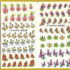 Водные Наклейки для Ногтей Разноцветные, Большая Тройная Пластина, Дизайн Ногтей, Angevi S 013-014-015, фото 4