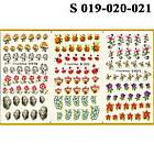 Водные Наклейки для Ногтей Разноцветные, Большая Тройная Пластина, Дизайн Ногтей, Angevi S 019-020-021, фото 2