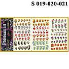 Водные Наклейки для Ногтей Разноцветные, Большая Тройная Пластина, Дизайн Ногтей, Angevi S 019-020-021, фото 3