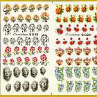 Водные Наклейки для Ногтей Разноцветные, Большая Тройная Пластина, Дизайн Ногтей, Angevi S 019-020-021, фото 4