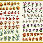 Водные Наклейки для Ногтей Разноцветные, Большая Тройная Пластина, Дизайн Ногтей, Angevi S 019-020-021, фото 5