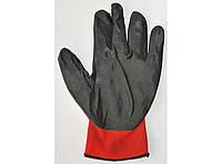 Перчатки рабочие стрейчевые Size 10 черно-красные