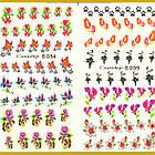 Водные Наклейки для Ногтей Разноцветные, Большая Тройная Пластина, Дизайн Ногтей, Angevi S 034-035-036, фото 4