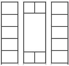 Шкаф-Купе трехдверный (модульная система) с фасадами из ДСП или зеркала, фото 3