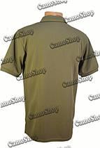 Футболка-поло летняя в оливковом цвете из потоотводящей ткани CoolPass, фото 3