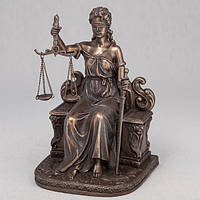 Статуэтка Фемида на троне Veronese 18 см 75268 A4, богиня правосудия