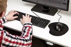 Ергономічний килимок для миші Goobay Ergonomic Mousepad Black