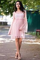 Розовое платье-сетка AYLA