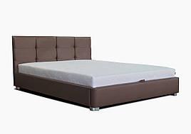 Ліжко з підйомним механізмом з м'якою спинкою в спальню Ніка (ніша+металокаркас) Eurosof