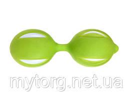 Вагинальные шарики Smart Geisha Balls 3,5 см х 10 см Зеленый