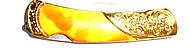 Нож раскладной с оранжевой ручкой