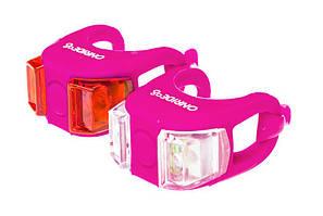 Мигалки ONRIDE Dual набор (передняя + задняя) розовый