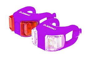 Мигалки ONRIDE Dual набор (передняя + задняя) фиолетовый