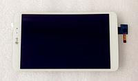 Оригинальный дисплей (модуль) + тачскрин (сенсор) для LG G Pad 8.3 V500 (белый цвет), фото 1