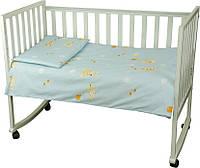 Постельный комплект в детскую кроватку Немовля (пододеяльник, наволочка, простынь) голубой ТМ Руно 932.116