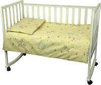 Постельный комплект в детскую кроватку Немовля (пододеяльник, наволочка, простынь) бежевый ТМ Руно 932.116