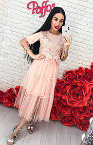 Платье кружево 750