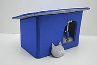 Домик Уют для котов и собак Комфорт лето синий, фото 1