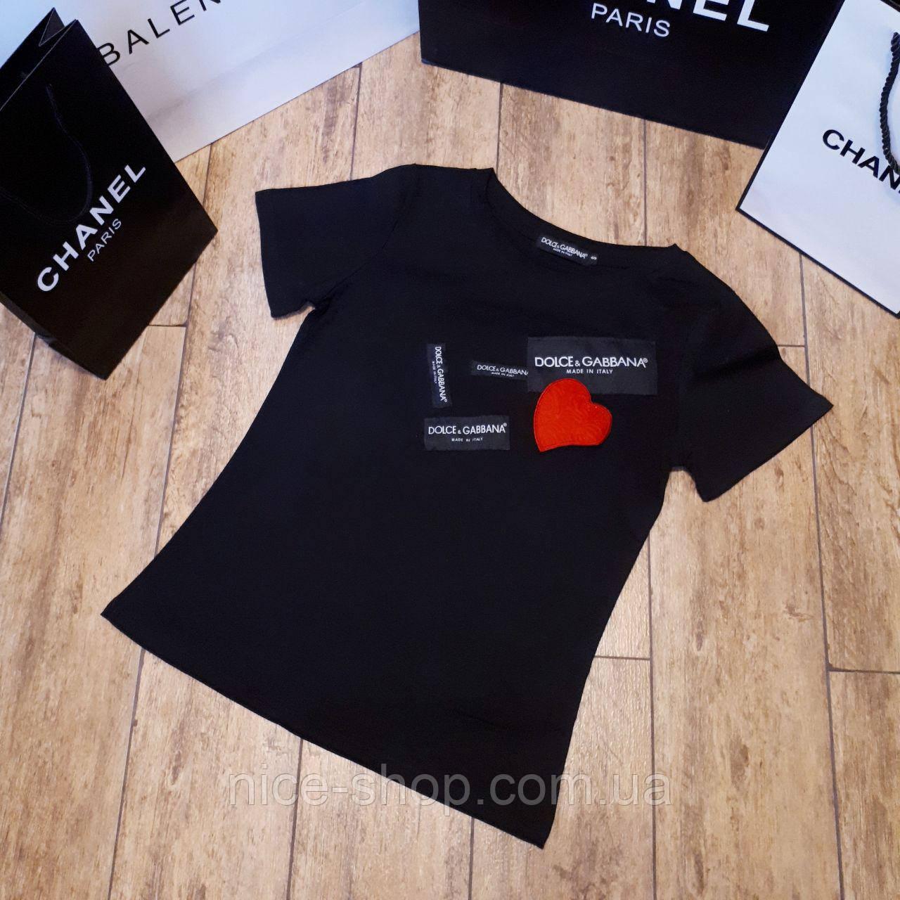 Футболка женская Dolce& Gabbana черная