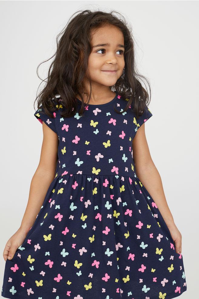 970f7b5141d Н M Трикотажное платье с бабочками для девочки 6-8лет