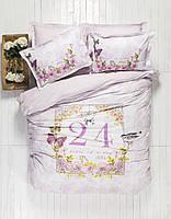 Комплект постельного белья евро karaca home ранфорс History lila пано