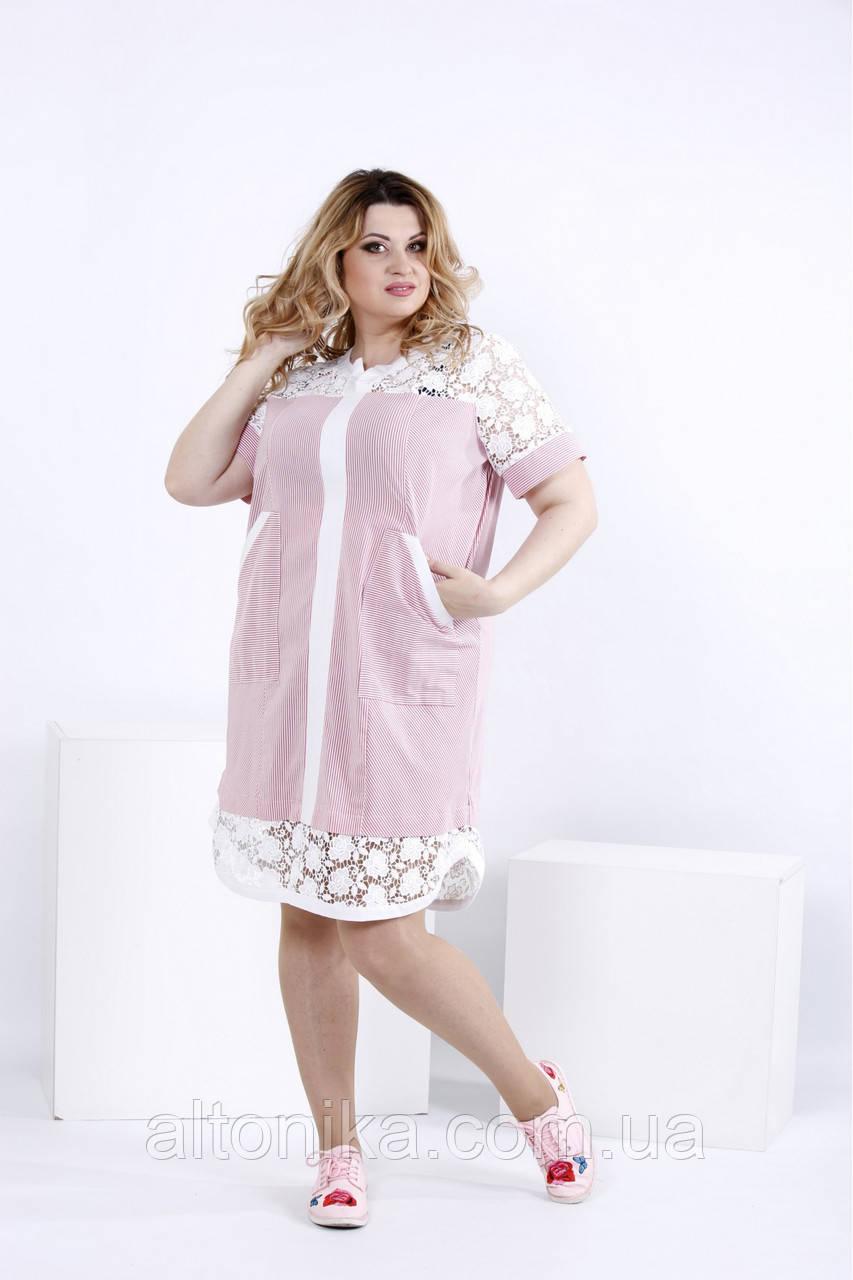 Летнее платье-рубашка с макраме | 0835-2
