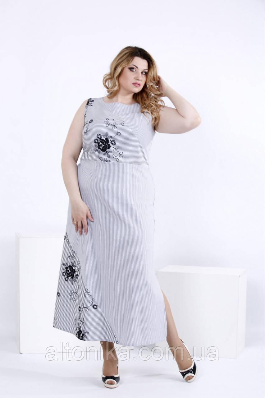Длинное платье с вышивкой | 0834-2