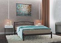 Кровать металлическая Вероника Коричневая 80*190 (Металл дизайн)