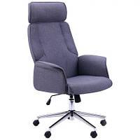 Кресло компьютерное Madison хром, тк.серый