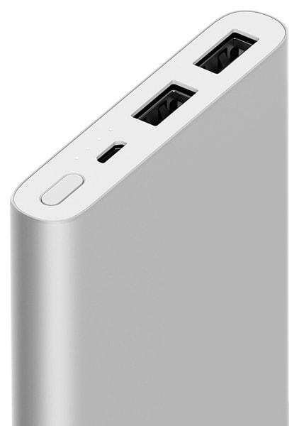 Xiaomi Power Bank 2 10000 mAh with 2USB (2018) Silver
