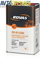 Rovas 5W-40 A3/B4 (4л)