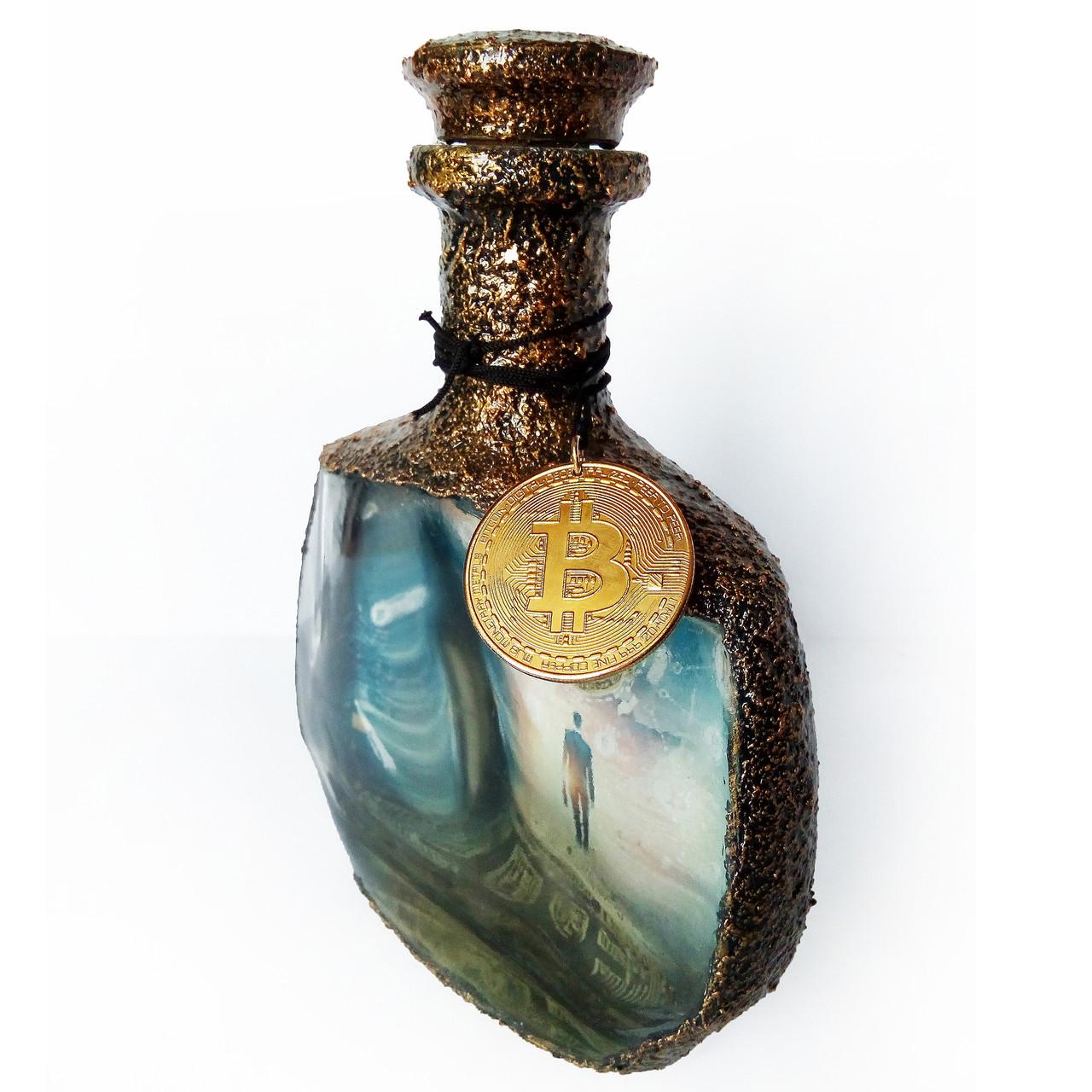 Сувенирная бутылка монета Биткоин Bitcoin Подарок мужчине ...