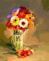 Картина по номерам Герберы в вазе (BK-GX23437) 40 х 50 см [Без коробки]