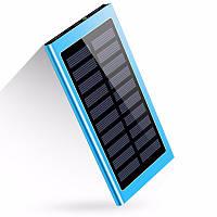 УМБ Solar Power Bank 10 000 mAh со встроенной солнечной батареей Blue (16-PBsolarB-e)