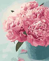 Раскраска для взрослых Нежные пионы (AS0017) 40 х 50 см ArtStory