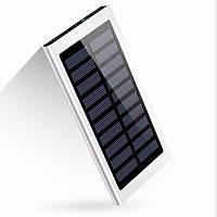 УМБ Solar Power Bank 10 000 mAh со встроенной солнечной батареей Gray (18-PBsolarG)
