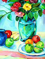 Картина по контурам (без номеров) Яблоки (RS-N000076) 45 x 35 см