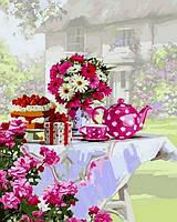 Рисование по номерам DIY Babylon Чаепитие в саду (VP801) 40 х 50 см