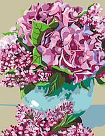 Раскраска для взрослых Цветы весны (RS-N0001379) 35 х 45 см