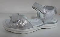 Босоножки сандалии КОЖА СЕРЕБРО  детские подростковые для девочек  размеры 31, фото 1