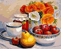 Картина по номерам Натюрморт с маками и фруктами (AS0119) 40 х 50 см ArtStory, фото 1